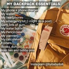 School essentials!!