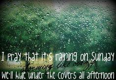 Raining on sunday