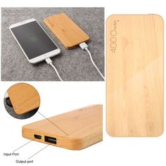Keep your devices juiced up whether you are at a party or just out on the town. This unique wooden battery charger is not only easy to carry but will keep your devices fully charged when you need.    Specifications:      Compatible Devices: Universal  Cell Type: LiPo  Capacity (mAh) 4000  Input Voltage (V) 5  Output Voltage (V) 5  Colors: Light Brown, Dark Brown  Dimension: 12.3cm x 6.5cm x 0.9cm  Material: Wood & Metal   | Shop this product here…