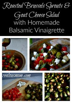 Roasted Brussels Sprouts & Goat Cheese Salad with Homemade Balsamic ...