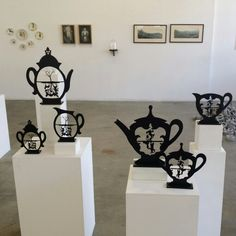 Exhibition view -The Cut Out Mash-Up at The Alex Hamilton Studio Gallery, August 2014