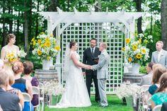 Beautiful garden ceremony