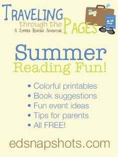 Traveling Through the Pages: A Summer Reading Adventure. Free printables and a summer reading plan to encourage kids to read different genres. Parent tips, book suggestions, fun ideas. Summer Activities For Kids, Reading Activities, Fun Activities, Free Summer, Summer Kids, Reading Adventure, Summer Reading Program, Money Saving Mom, Book Suggestions