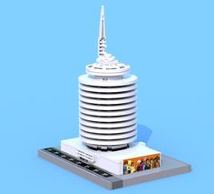 Eiffleman recently post his version of the iconic Capitol Records Tower. The minature version perfectly captures the esssence of the original, right down to th