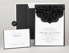 35 best invitation kits images on pinterest invitation envelopes black scalloped invitation kit contains 25 invitations foil lined envelopes folodersnote cards stopboris Images