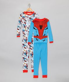 Take a look at this Blue & Red Spider-Man Pajama Set - Kids on zulily today!