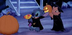 funny lilo and stitch my gifs film disney movie cartoon Halloween animated lilo stitch animated disney