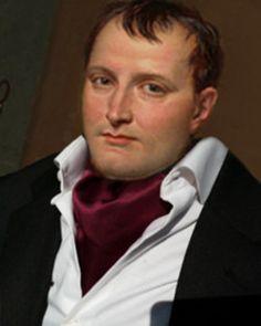 Napoleon wearing an ascot tie.  We love it.