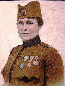 Flora Sandes: A Female Soldier in the First World War Back home in England, the Suffragettes were demanding votes for women. Flora Sandes was already in uniform fighting, as a British woman on the front line of World War One. Full story >>>>>