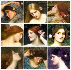 Flowers in her hair - Waterhouse