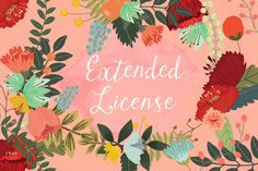 Check out Extended License by Mia Charro on Creative Market