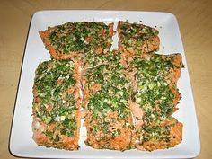 Roasted Salmon with Green Herbs...Ina Garten's Recipe