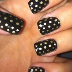 black and golden dots