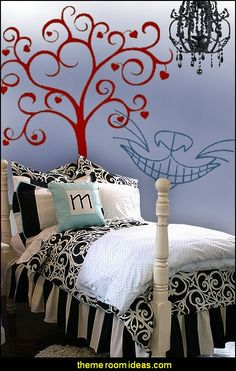 Beau Alice In Wonderland Theme Bedroom For Young Girls And Teens   Wall Decal  Stickers, Bedding