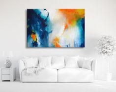 Peinture abstraite très grand des couleurs vives peinture