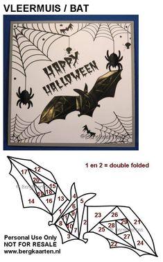 Irisvouwen: Halloween: Bat