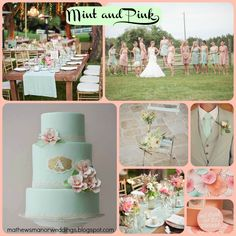 summer wedding colors | Summer Wedding Color Trends – Pink and Mint – Springville Alabama ...