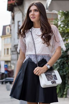 Lace crop top - Mysterious Girl