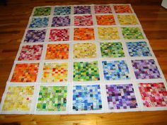 audreypawdrey: Postage Stamp Quilt: top is almost done!