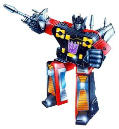 """Box art for """"Rumble,"""" one of the cassette-tape Decepticons that had the ability to create earthquakes, from the first generation of """"Transformers"""" toys"""