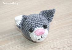 Toby the Cat amigurumi pattern - head