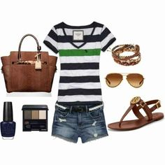 Fashionista Trends - Part 5 casual Fashionista Trends, Cute Summer Outfits, Cute Outfits, Casual Summer, Casual Weekend, Summer Clothes, Weekend Outfit, Casual Outfits, Outfit Summer