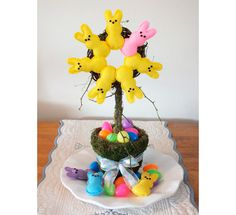 Easter Topiary Craft with Peeps  {via Red Barn}