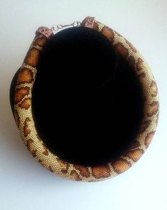 Snake necklace snake choker Bead Crochet Necklace Sand
