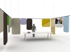 デスクパーティション NOTES Offect Lab コレクション by Offecct | デザイン: Luca Nichetto