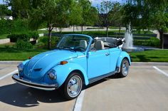 Brad Mohler's 1974 Olympic Blue L51P Super Beetle, Oklahoma City, U.S.A. The car has won best in class at several regional shows at Eureka Springs, Dallas, Fort Worth, Wichita, Tulsa, and Tahlequa.Join him at https://www.facebook.com/brad.mohler