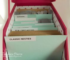 Creatively Candace: {Organization} Copics  Die Storage - Like this Idea might do slightly different but a good starting point.