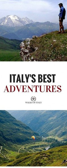 The best adventures in Italy are waiting for you. Click through to find out wher… The best adventures in Italy are waiting for you. Click through to find out where to go to enjoy Italy's stunning landscape and get your adrenaline pumping. Travel Tips For Europe, Places To Travel, Italy Vacation, Italy Travel, Italy Trip, Buying Property In Italy, The Places Youll Go, Places To See, Outdoor Reisen