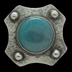 Ruskin Pottery Brooch in Pewter.