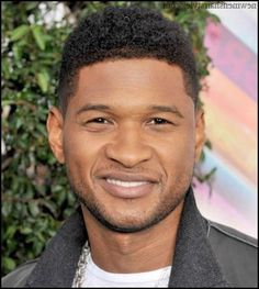 Simply Curly Hairstyle like Usher haircut
