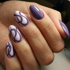 Exquisite nails, Hardware nails, Ideas of lilac nails, Light lilac nails, Medium nails, Nails ideas 2017, Nails trends 2017, Original nails