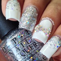 """Instagram media by gabbysnailart - Something quick and easy because I didn't have much time I used @ppn_ -""""Divinely Made"""" & OPI-""""In True Stefani Fashion""""  My nail bow is from @lightinthebox #lightinthebox"""