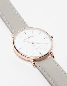 From The Horse, a timeless, narrow-body wrist watch with a clean-lined dial and a sundial to count seconds. Features a supple Italian leather strap with beige nubuck lining. • Classic wrist watch • Stainless steel case, case back and bezel • Ge