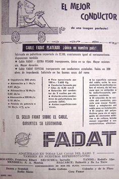 Fadat Conductores Eléctricos 1961