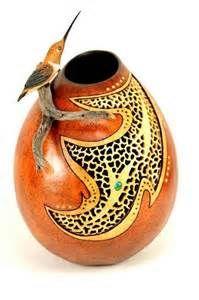 Hummingbird Perch, Bonnie Gibson Gourd Art. The gourd has an added ...