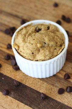 Make a single chocolate chip muffin in the microwave.