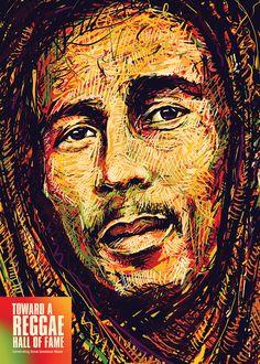 International Reggae Poster Contest Winner - Balazs Pakozdi, via Behance Bob Marley Kunst, Bob Marley Art, Reggae Bob Marley, Reggae Poster, Reggae Art, Bob Marley Pictures, Jah Rastafari, Rastafari Quotes, Marley Family