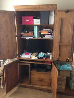 Computer Cabinet Rejuvenated: The Reveal - Let's Get Crafty!