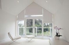 Dreiecksfenster verdunkeln rollos designs weiß