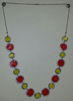 Colored Ring Necklace DIY jewelry wirewrapping tutorial