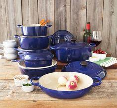 New Le Creuset Color for Sur La Table: Indigo. ENAMEL COATED CAST IRON