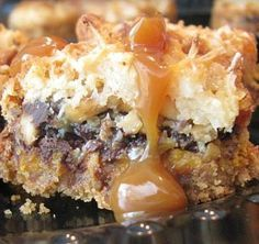pumped up pumpkin bars - chocolate, coconut, condensed milk AND cashews with pumpkin!