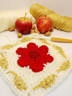 Crochet Cable, Double Crochet, Easy Crochet, Free Crochet, Crochet Square Patterns, Crochet Squares, Crochet Cushions, Soft Autumn, Free Pattern