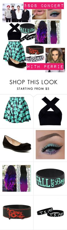 """""""5SOS Concert with Perrie"""" by ryleighisapanda ❤ liked on Polyvore featuring Motel and Jessica Simpson"""