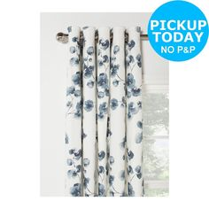 Heart of House Honesty Floral Lined Curtains - 229x229cm. From Argos on ebay