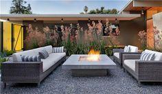 Square Fire Pit, Concrete Fire Pit  Fire Pit  Bernard Trainor + Associates  Monterey, CA